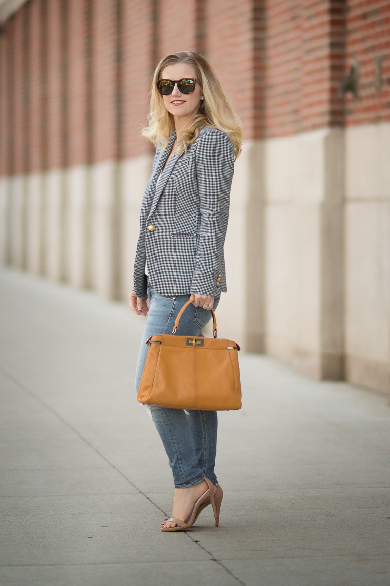 Petite Fashion and Style | J. Crew Campbell Blazer in Houndstooth | Click to read more...r