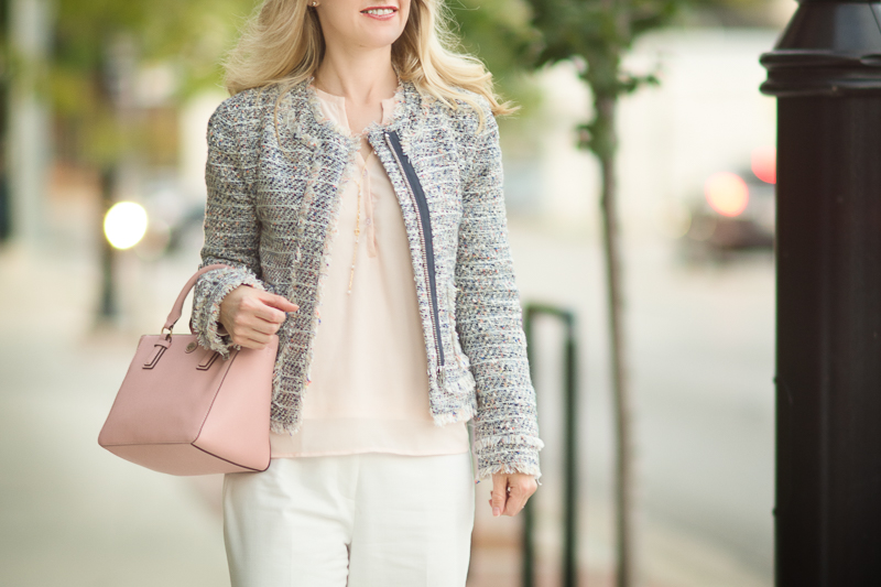 Petite Fashion & Style | J. Crew Tweed Jacket| Click to read more...