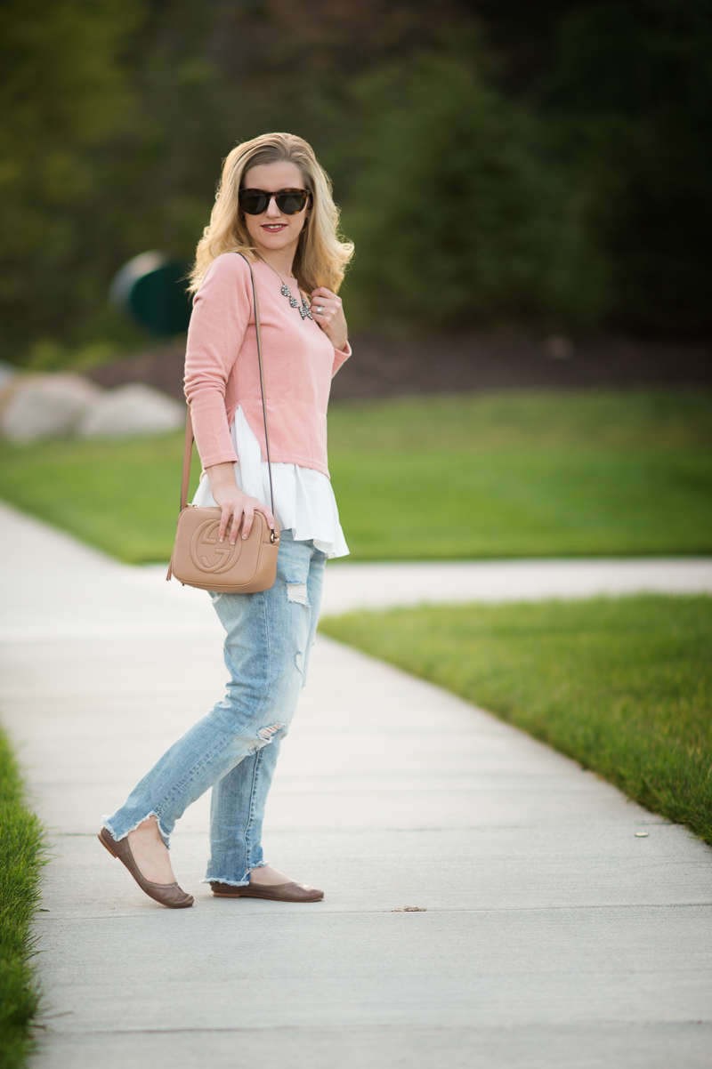 Petite Fashion & Style | Goodnight Macaroon Classic Mock Layer Sweater | Click to read more...