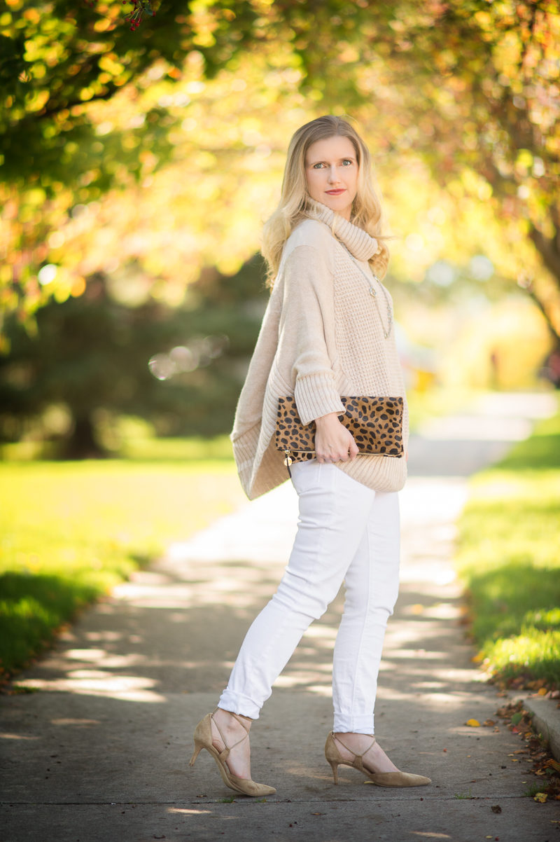 Petite Fashion and Style   Maison Jules Poncho Sweater   Click to Read More...