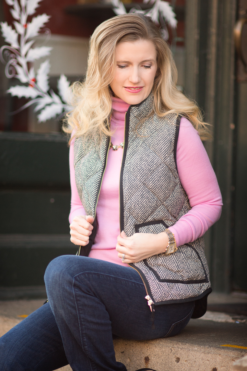 Petite Fashion and Style | J. Crew Factory Puffer Vest | Click to Read More...