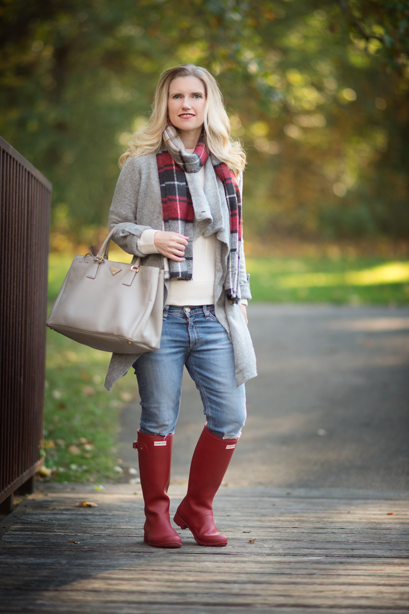 Petite Fashion and Style   Red Hunter Boots   Click to Read More...