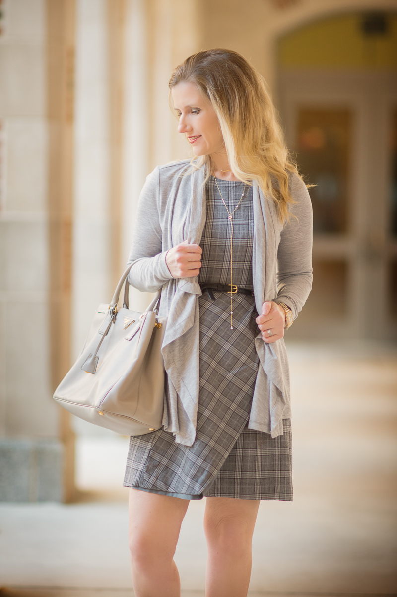 Plaid Fit And Flare Dress And Club Monaco Trench The