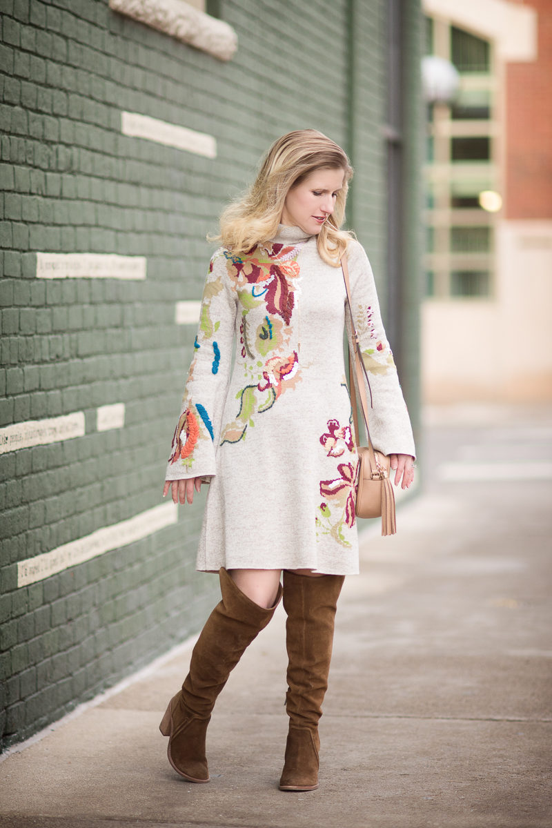 Petite Fashion and Style | Anthropologie Embroidered Petals Swing Dress