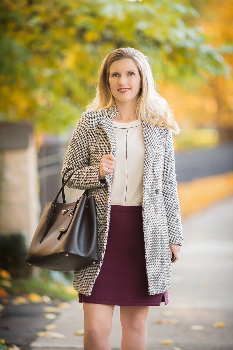 A Classy Double Breasted Tweed Coat... - The Blue Hydrangeas - A ...