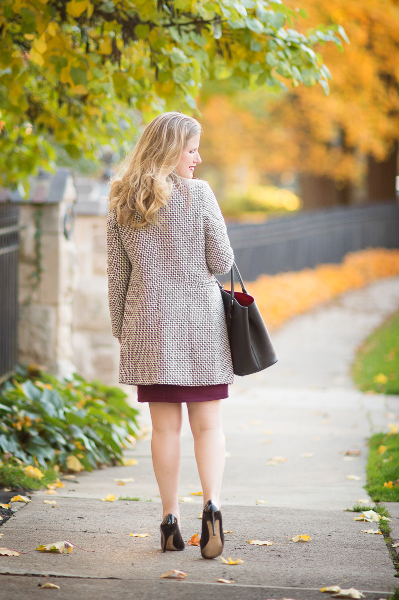 Petite Fashion Blog | Chicwish Classy Double Breasted Tweed Coat | J. Crew Factory Wool Skirt | Click to Read More...