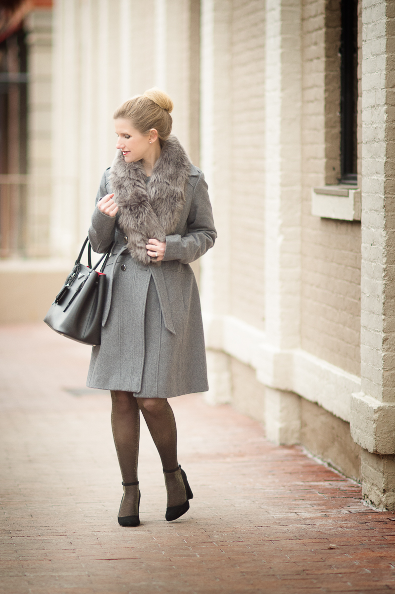 Classic Winter Style With A Stole The Blue Hydrangeas