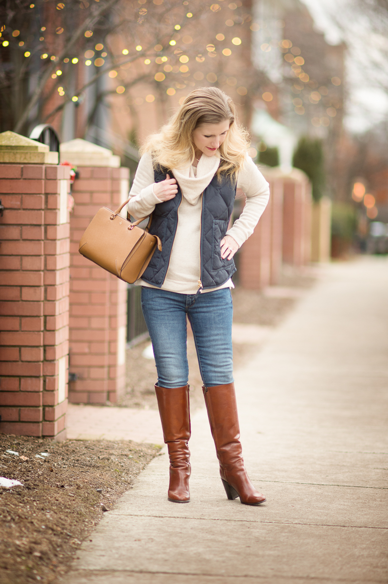 c7d8aa5094 Petite Fashion and Style Blog | J. Crew Factory Quilted Puffer Vest | Kate  Spade