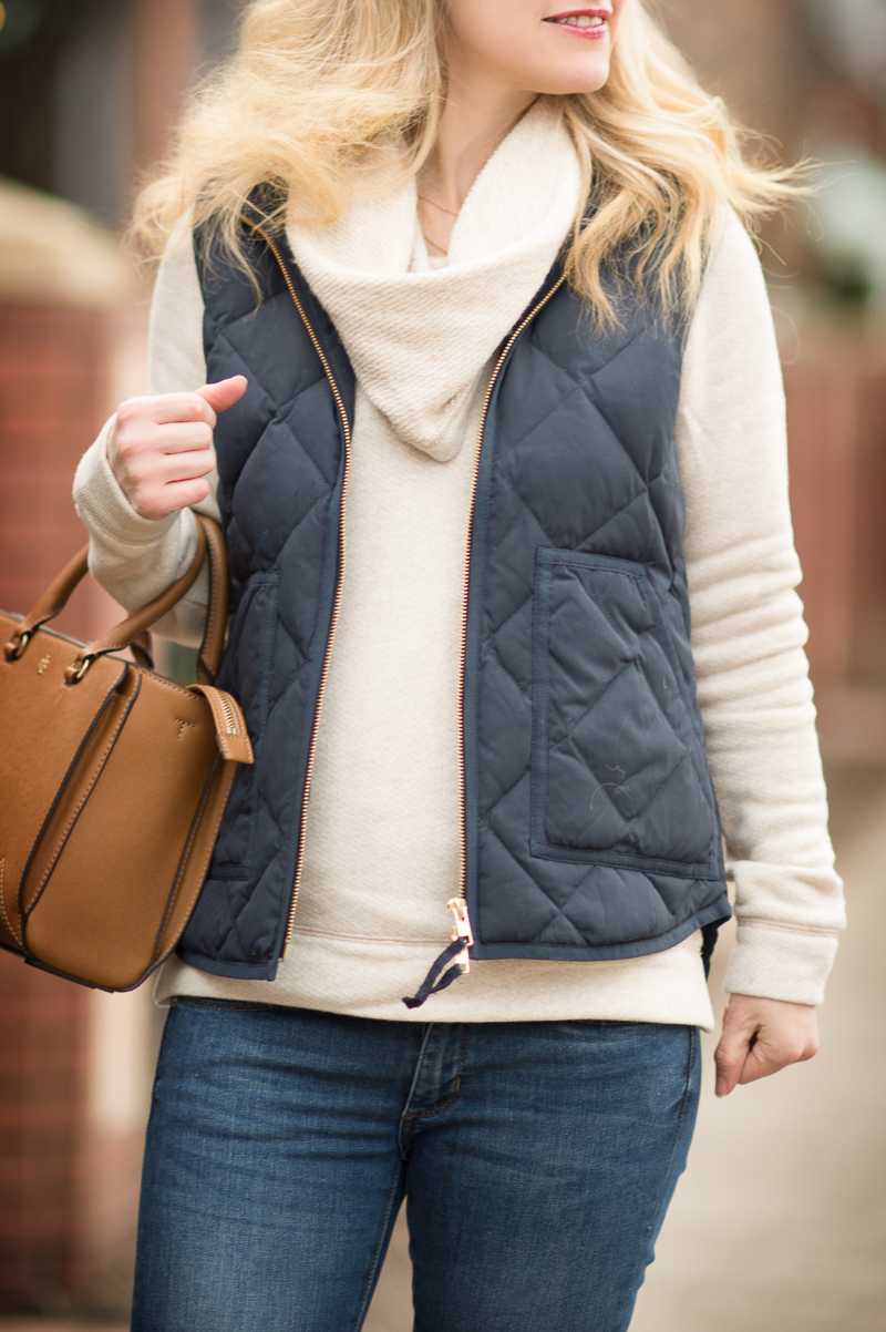 Blue Puffer Vest And A 100 J Crew Giveaway The Blue