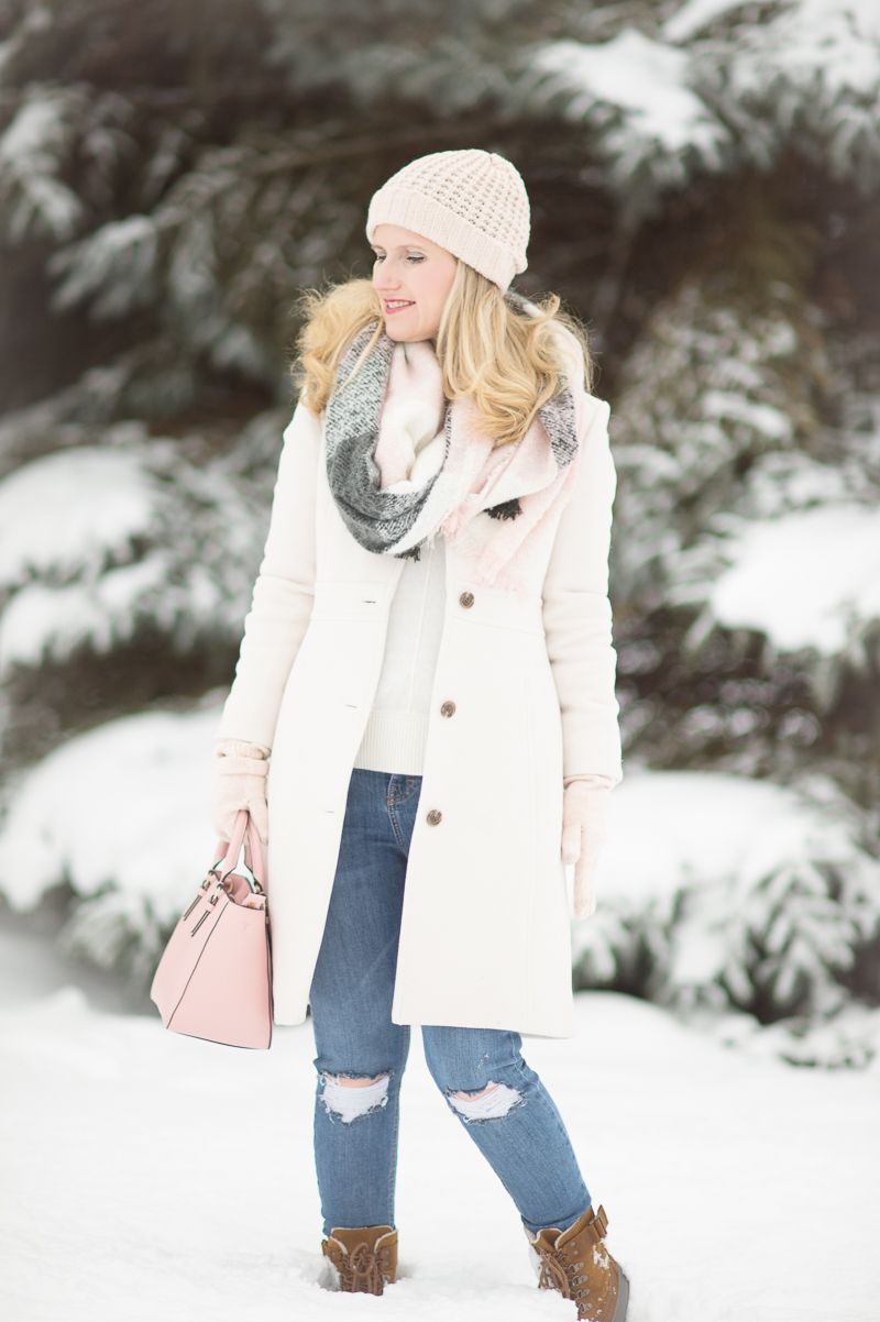 Stylish In The Snow The Blue Hydrangeas A Petite Fashion And Lifestyle Blog