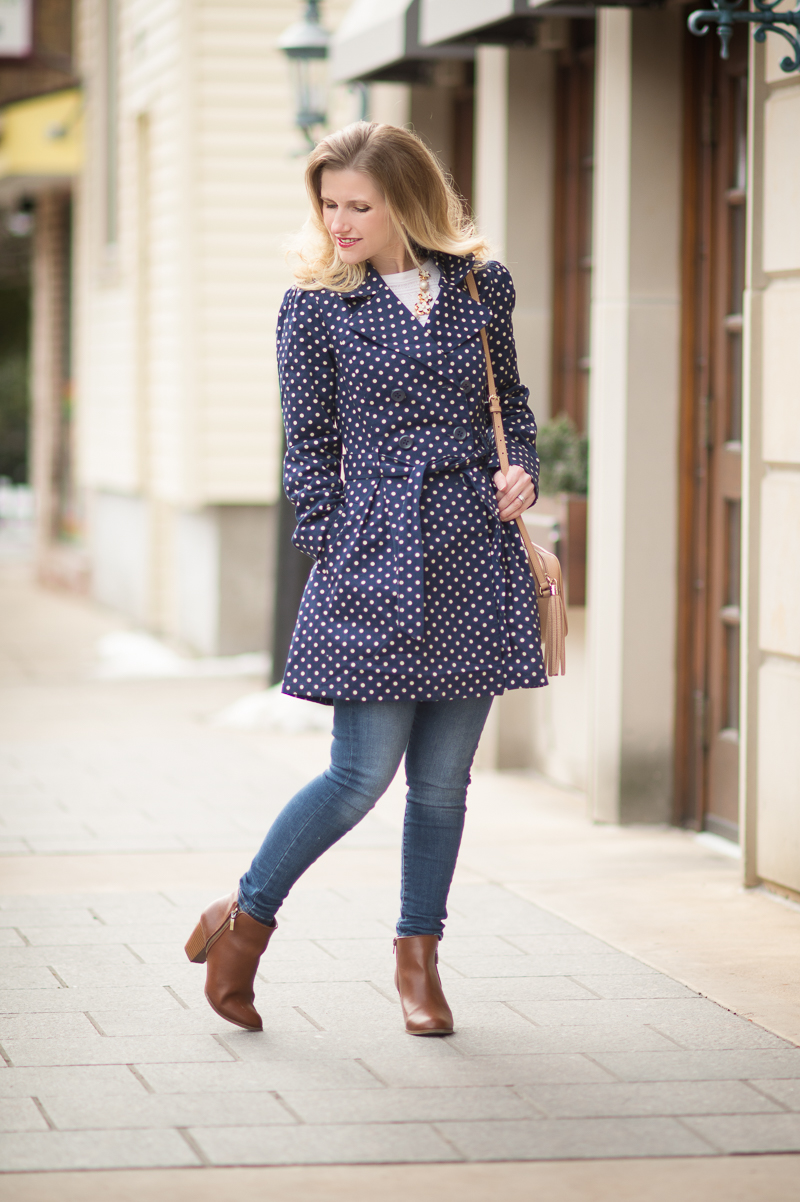 Petite Fashion and Style Blog   Modcloth Capital Class Trench in Dots   Click to Read More...