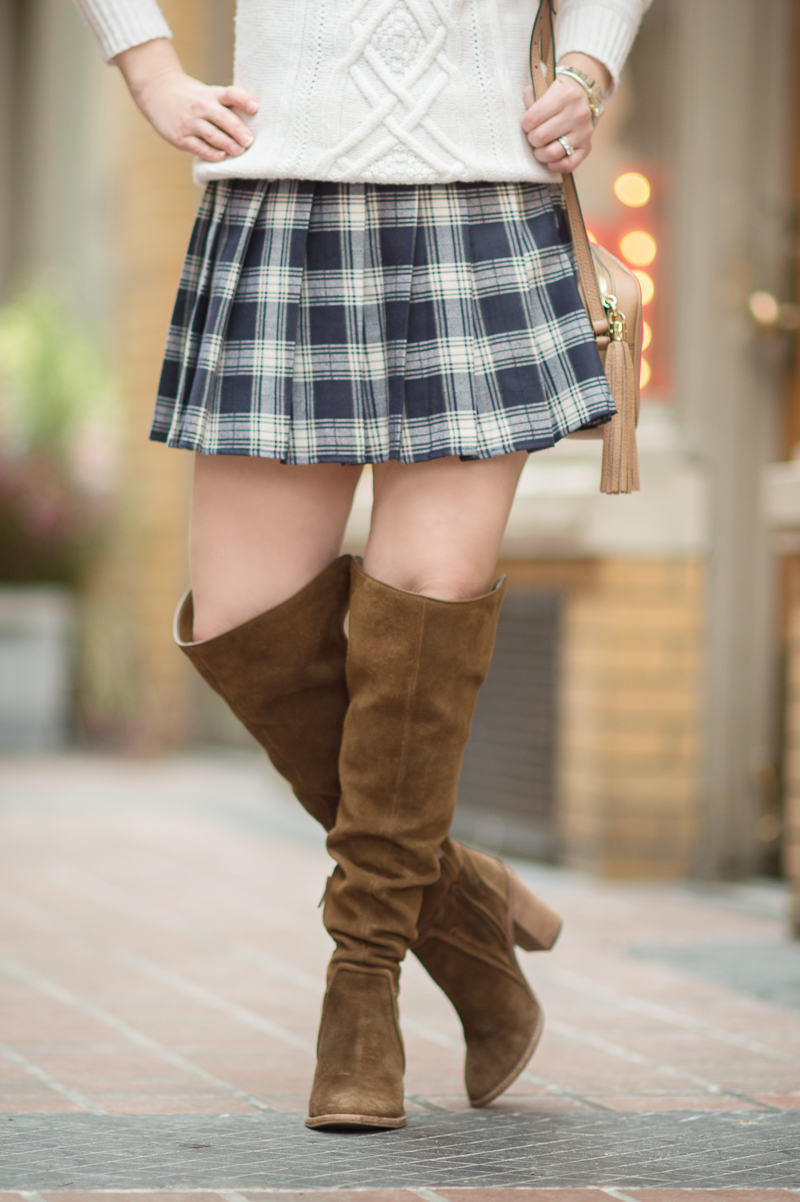 A Classic Navy Plaid Skirt From Romwe Pigtails Not