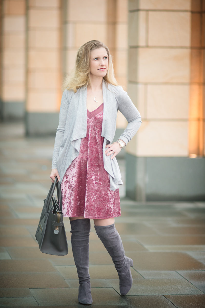 Petite Fashion and Style Blog   Tilly's Full Tilt Velvet Slip Dress   Celine Luggage Bag   Click to Read More...
