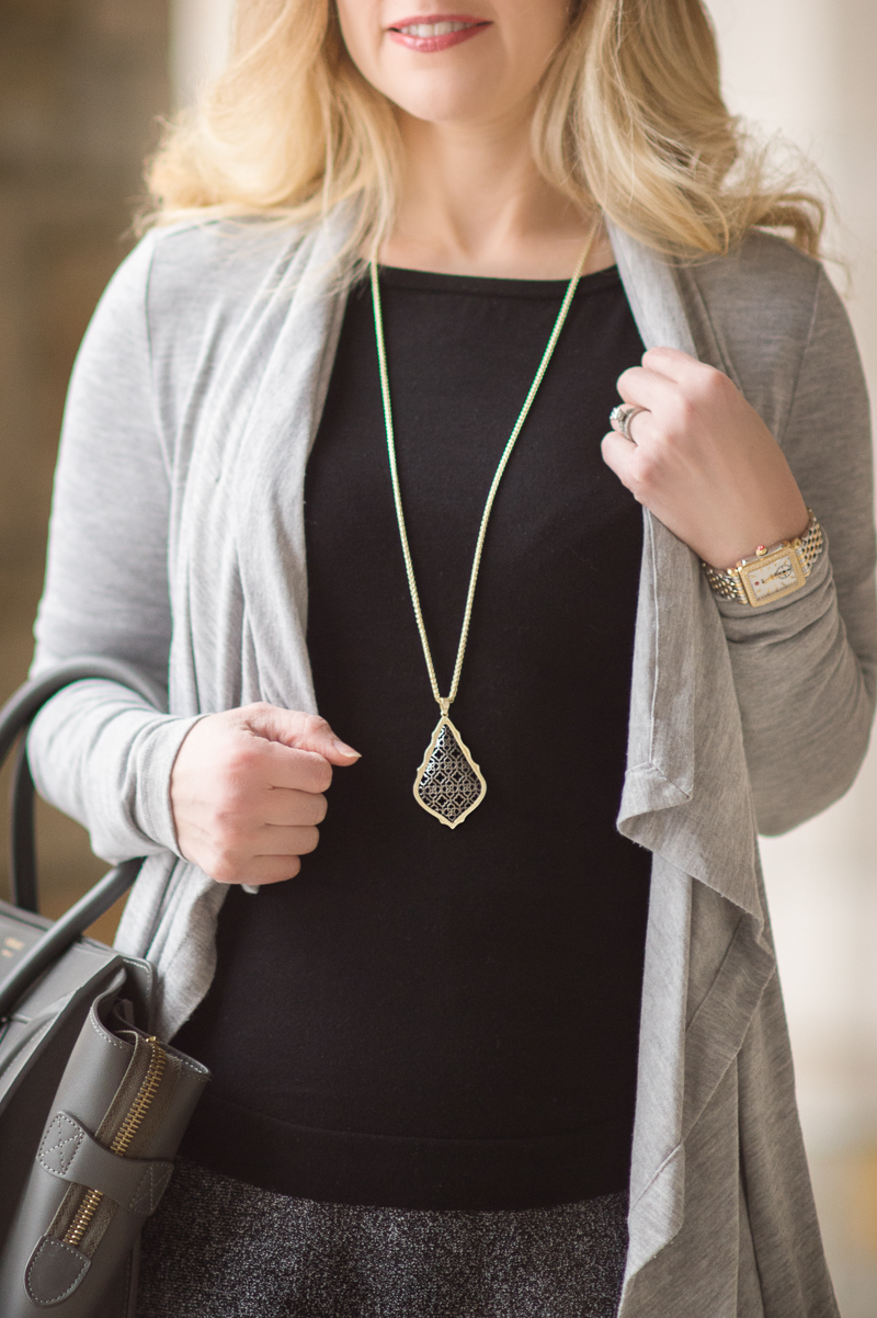Petite Fashion and Style Blog   Ann Taylor Cascade Caradigan   Kendra Scott Aiden Necklace   Celine Luggage Tote   Click to Read More...