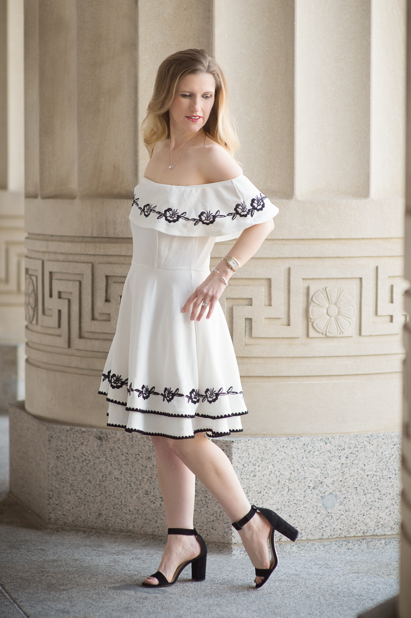 Petite Fashion and Style Blog | Francescas Leda Embroidered Off ...