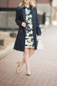 A Classic Navy Trench The Blue Hydrangeas A Petite