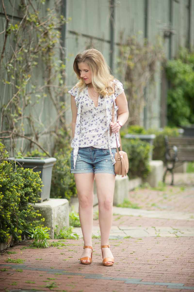 Petite Fashion And Style Blog Sts Blue Boyfriend Shorts