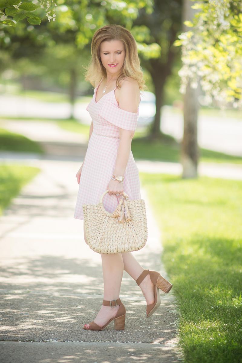 Petite Fashion and Style Blog | JOA Cold Shoulder Pink Cold ...