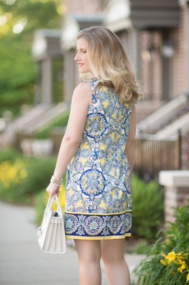 Petite Fashion And Style Blog Londin Times Yellow Cotton Petite Shift Dress 6 The Blue