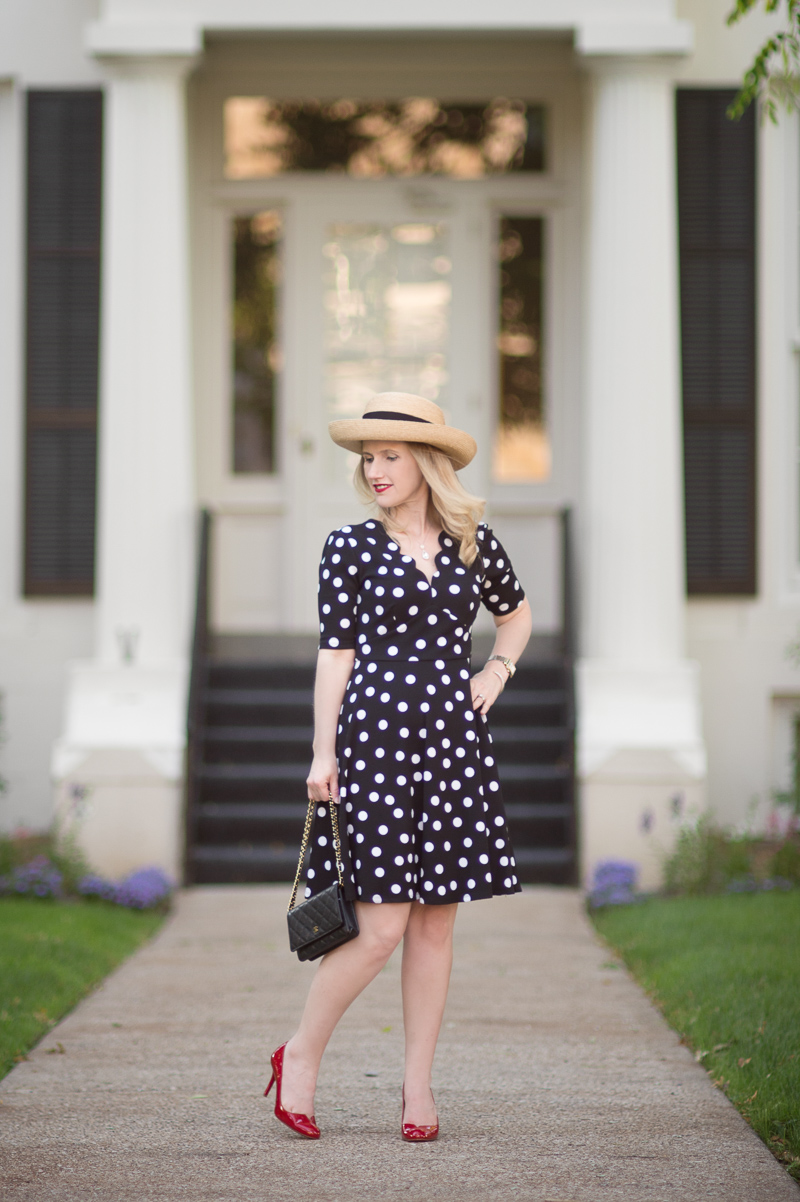 Petite Fashion and Style Blog | Londin Times Abigail Petite Fit and Flare Dress | Christian Louboutin Heels | Chanel WOC