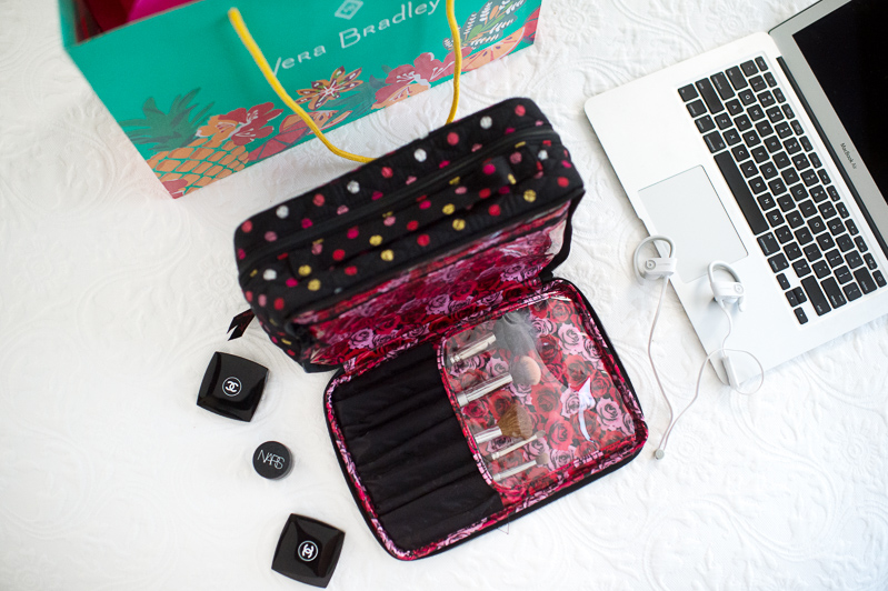 Petite Fashion and Style Blog | Vera Bradley Large Blush and Brush Makeup Case | Click to Read More...