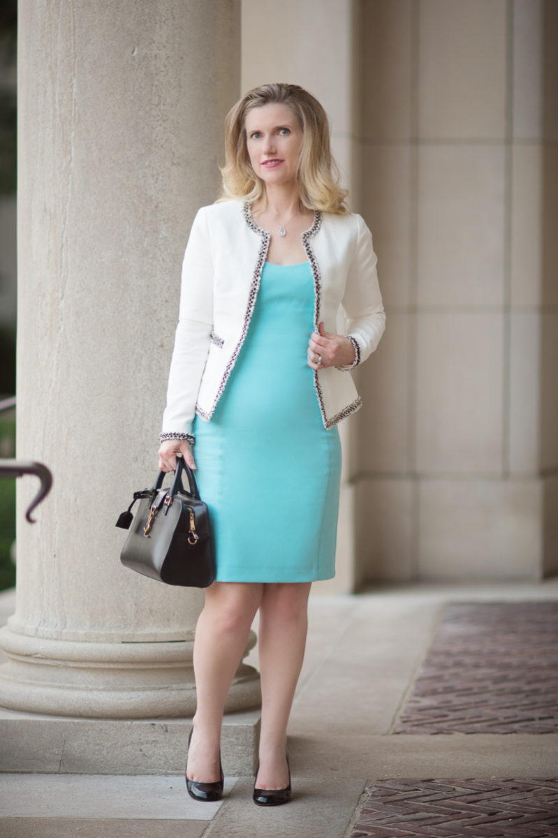 Three Tips For Adding Color To Your Workwear The Blue Hydrangeas A Petite Fashion And