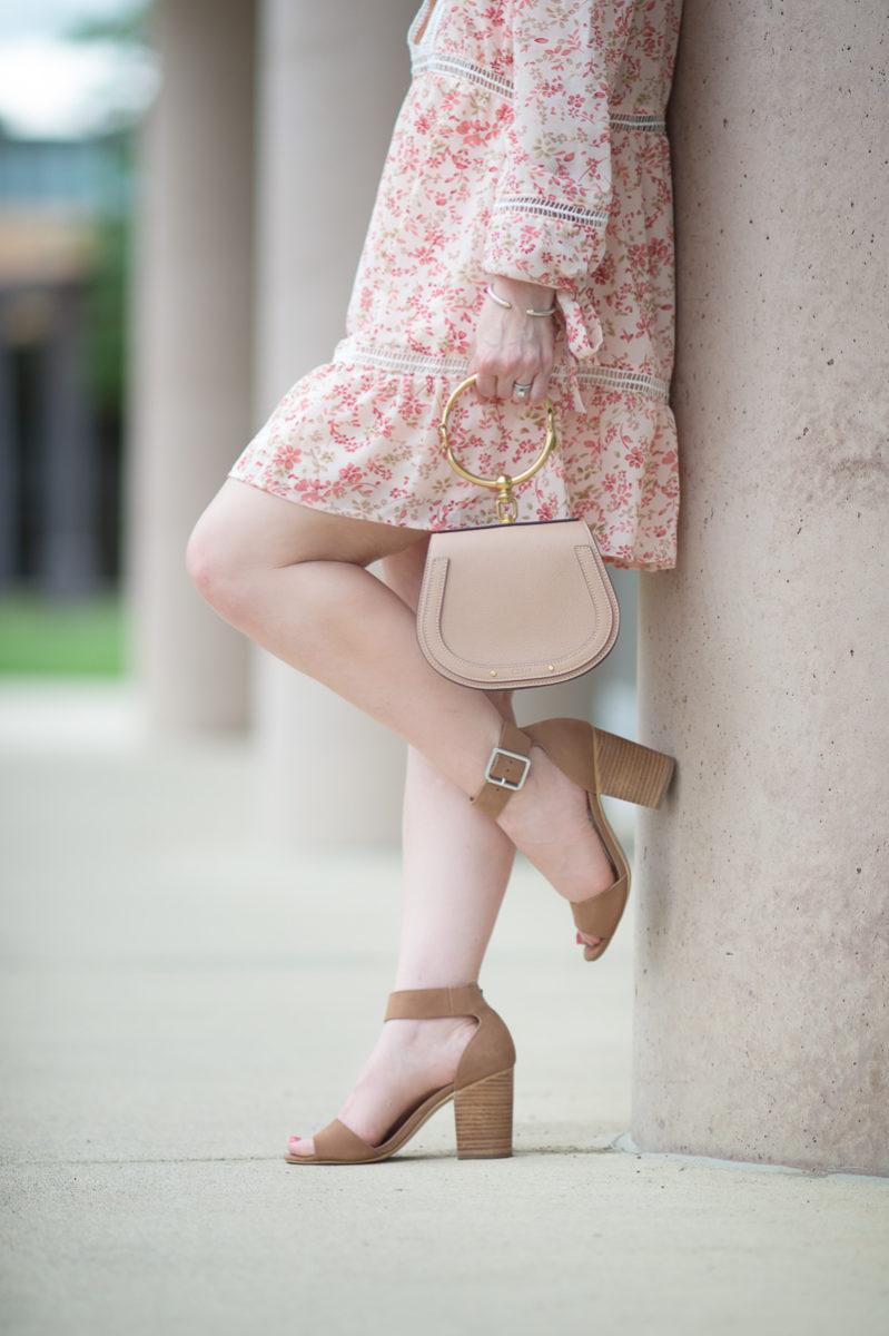 Petite Fashion and Style Blog   For Love and Lemons Sweet Disposition Swing Dress   Chloe Nile Bag   Steve Madden Gerard Heels