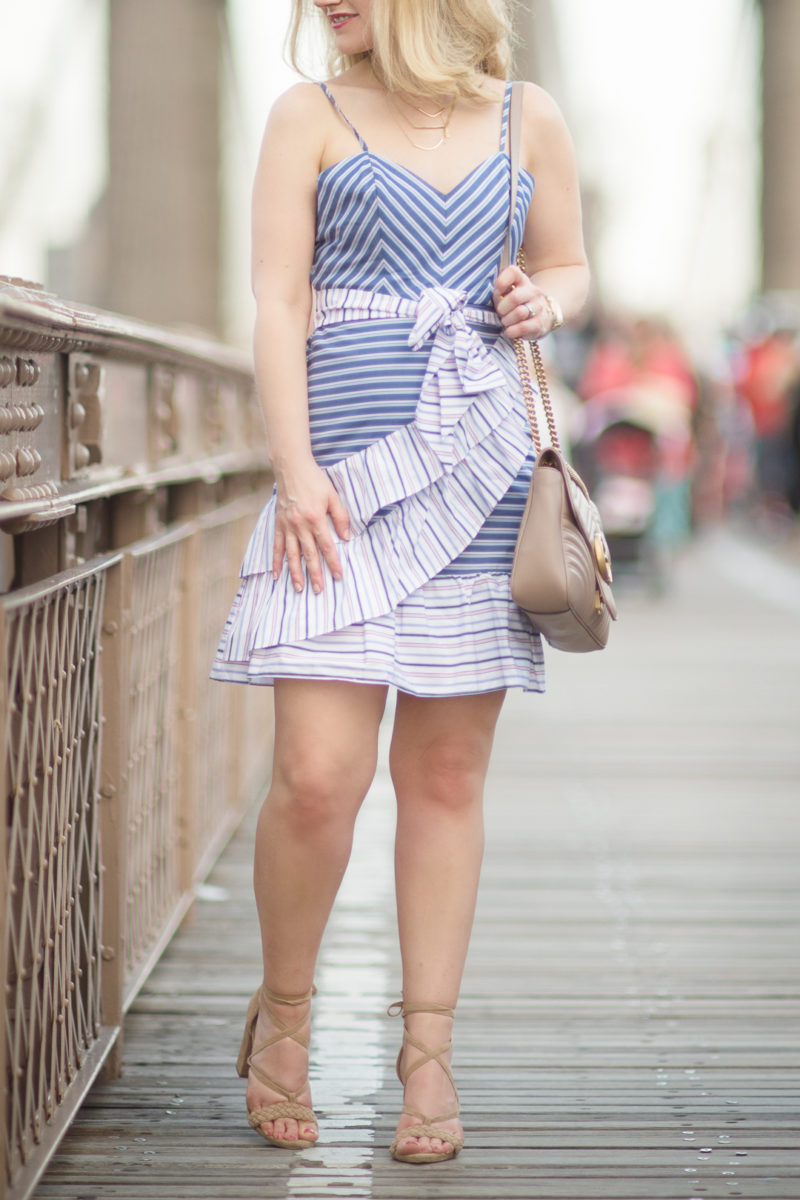 Petite Fashion and Style Blog | Parker NY Brooklyn Dress | Gucci Marmont Shoulder Bag | Raye Lulu Heel | Click to Read More...
