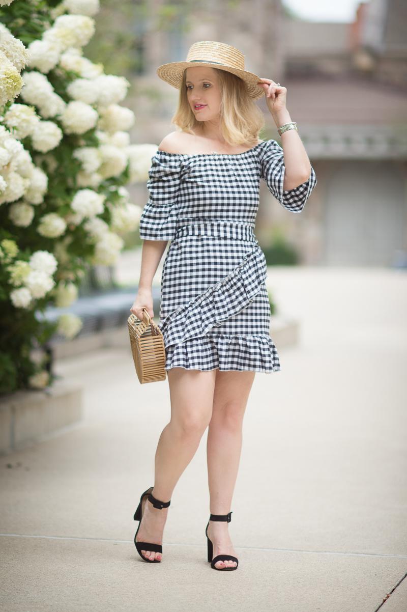 Black Gingham Dress Fashion