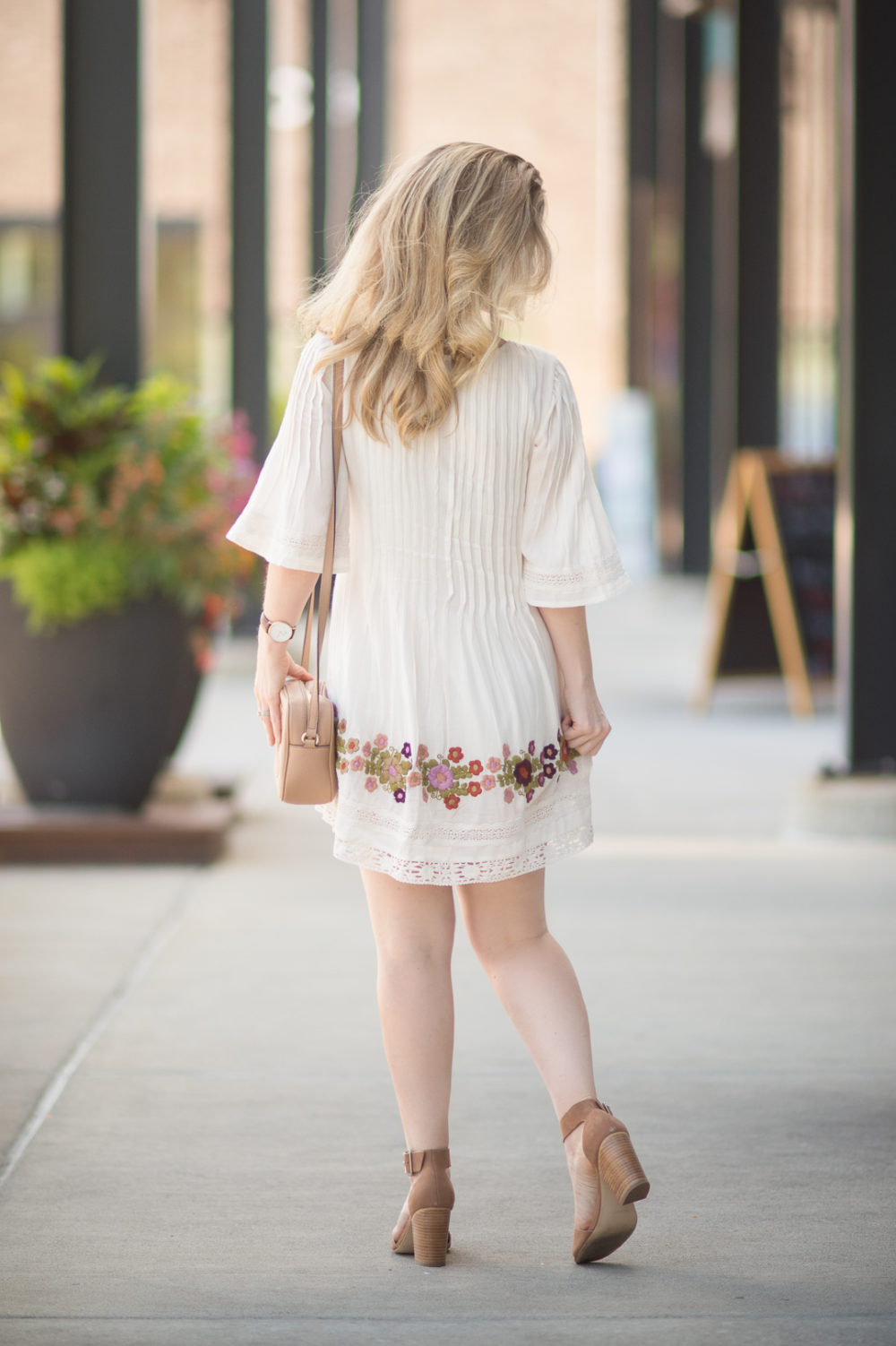 Petite Fashion and Style Blog | Tularosa Audrey Pintuck Dress | Gucci Soho Disco Bag | Steve Madden Gerard Heels - First Year Blogiversary by popular Michigan petite fashion blogger The Blue Hydrangeas