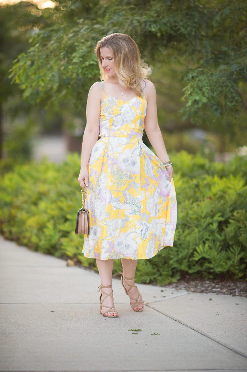 Petite Fashion and Style Blog   Yumi Kim Prima Dona Dress   Raye Lulu Heel in Tan   Chloe Nile bag   Click to Read More...