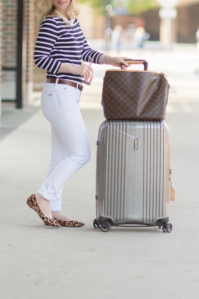 Petite Fashion and Style Blog | Hartmann 7R Spinner | Click to Read More... - Travel in Style with Hartmann Luggage by popular Michigan petite fashion blogger The Blue Hydrangeas