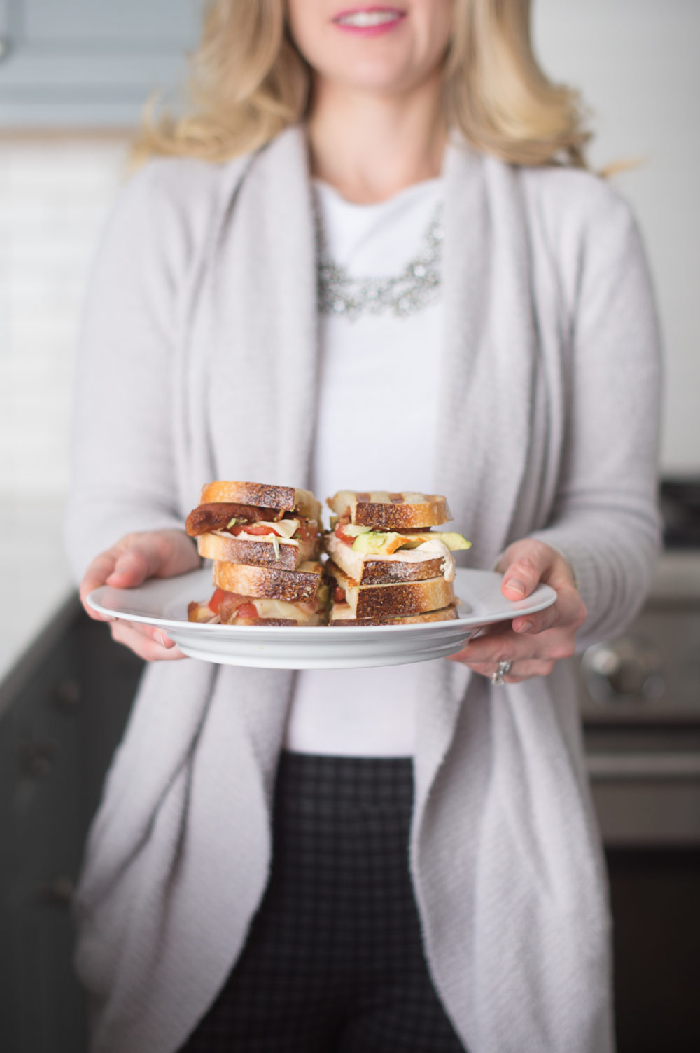 Petite Fashion and Style Blog | Chicken Bacon Avocado Paninis | Wright Hickory Smoked Bacon | Panini Recipe