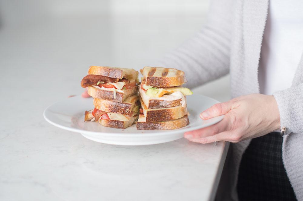Petite Fashion and Style Blog | Chicken Bacon Avocado Paninis | Wright Hickory Smoked Bacon | Panini Recipe