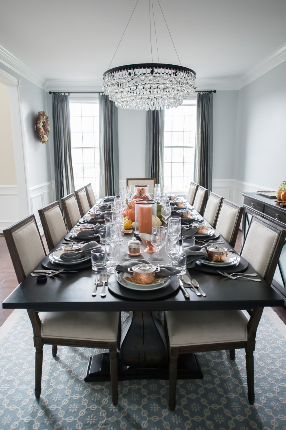 Petite Fashion and Style Blog | Williams Sonoma In Home Design Services - Our Thanksgiving Tablescape with Williams Sonoma by popular Michigan style blogger The Blue Hydrangeas