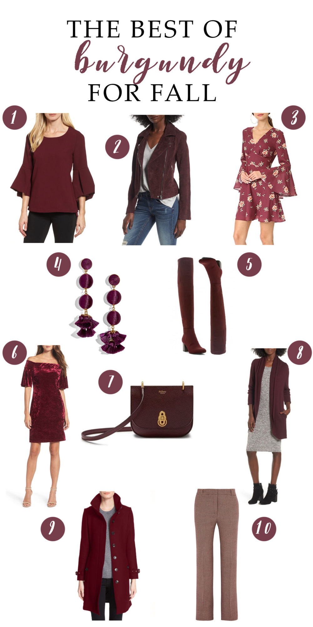 Petite Fashion and Style | Fall Burgundy Trend