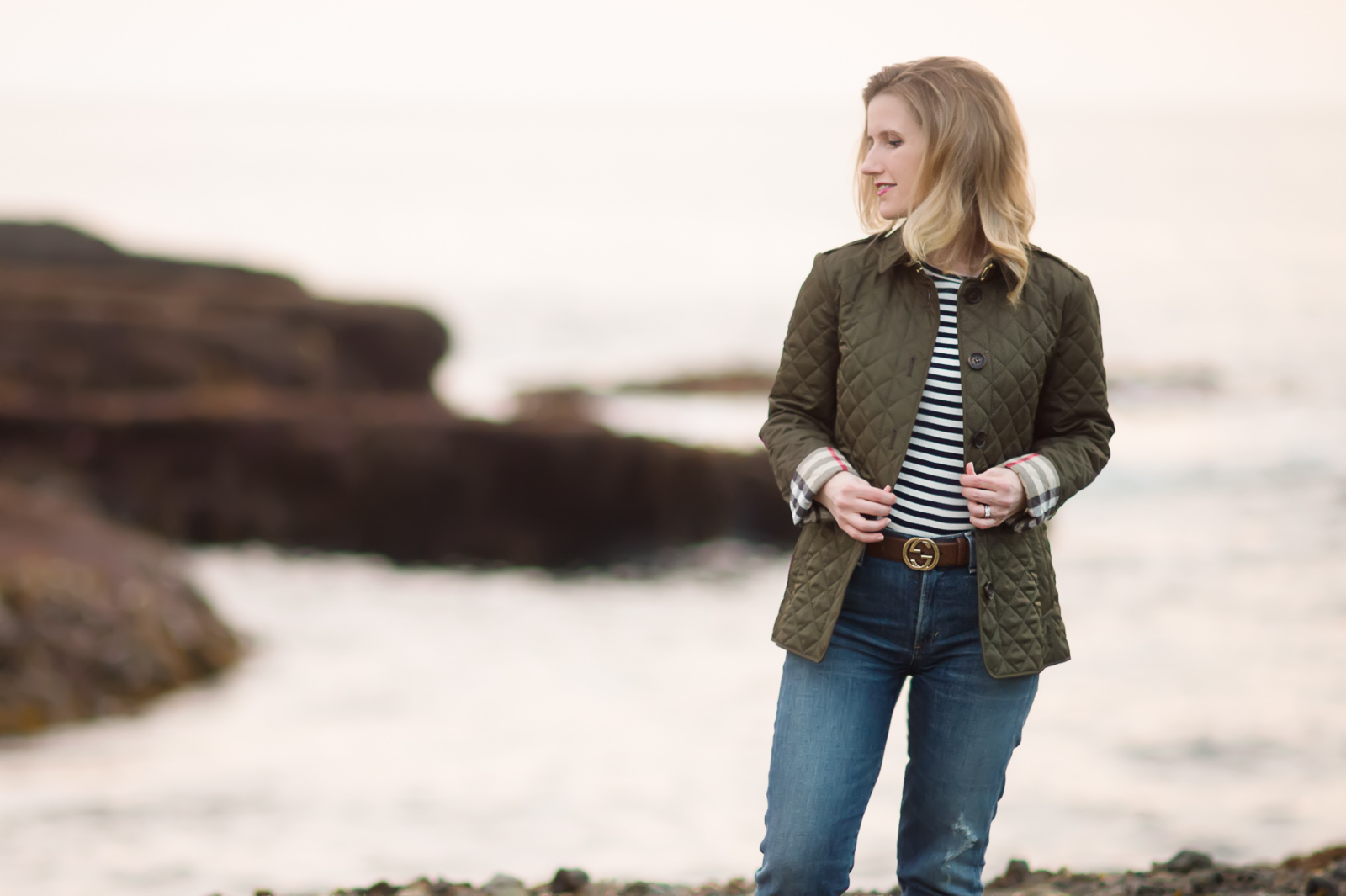 Petite Fashion And Style Blog Burberry Diamond Quilted Jacket
