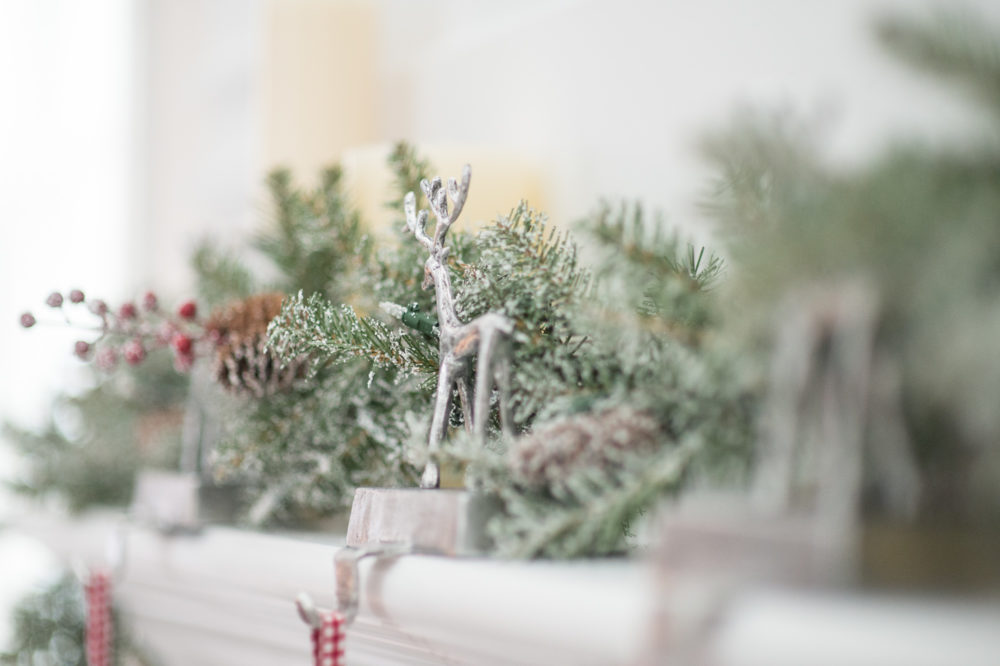 Petite Fashion and Style Blog | Christmas Decoration Inspiration | My Home for the Holidays | Flocked Christmas Tree | Click to Read More...
