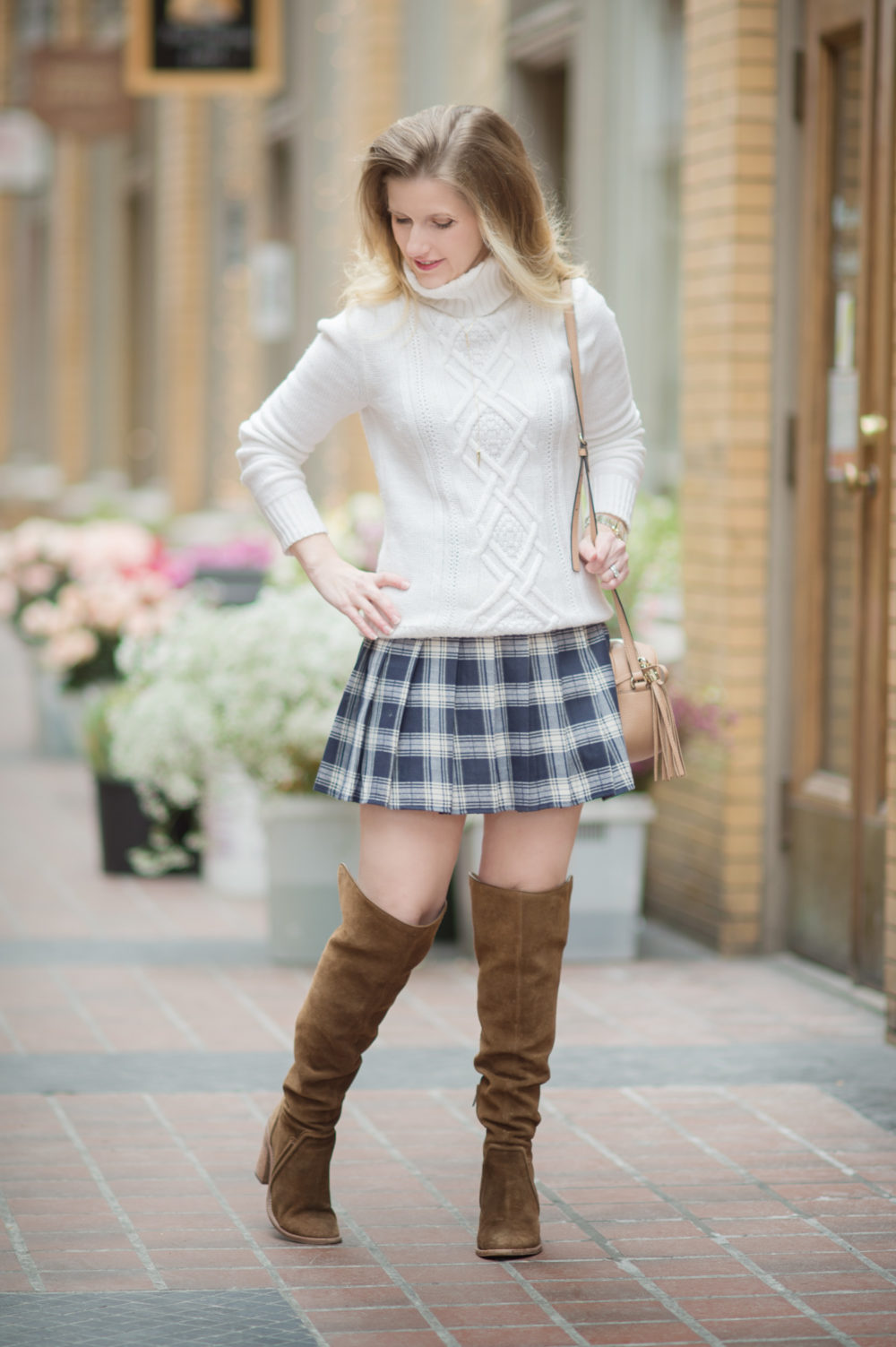 Petite Fashion and Style Blog | Fashion for Petite Women | J. Crew Cambridge Cable Crewneck Sweater