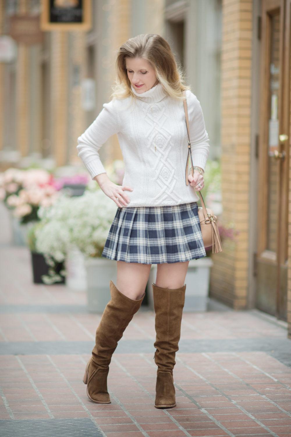 Petite Fashion and Style Blog | Fashion for Petite Women | J. Crew Cambridge Cable Crewneck Sweater