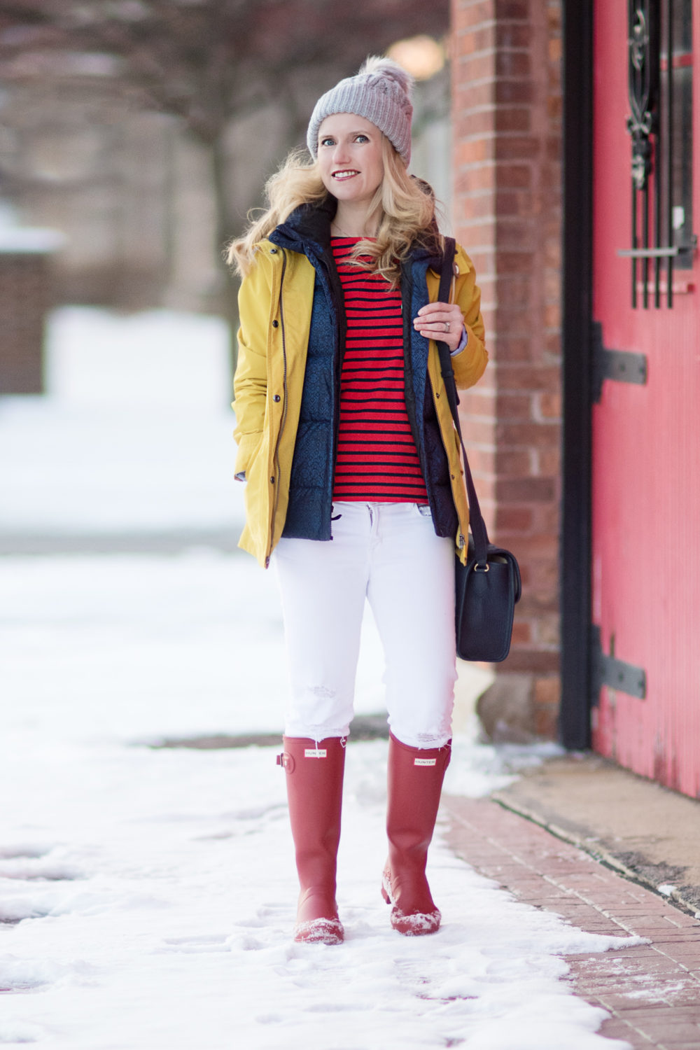 ichigan Petite Fashion and Style Blog | Fashion for Petite Women | Barbour Hooded Jacket | J. Brand Cropped Skinny Jeans | Gigi New York Amelie Crossbody | Hunter Tall Boots | The Blue Hydrangeas Click to Read More...