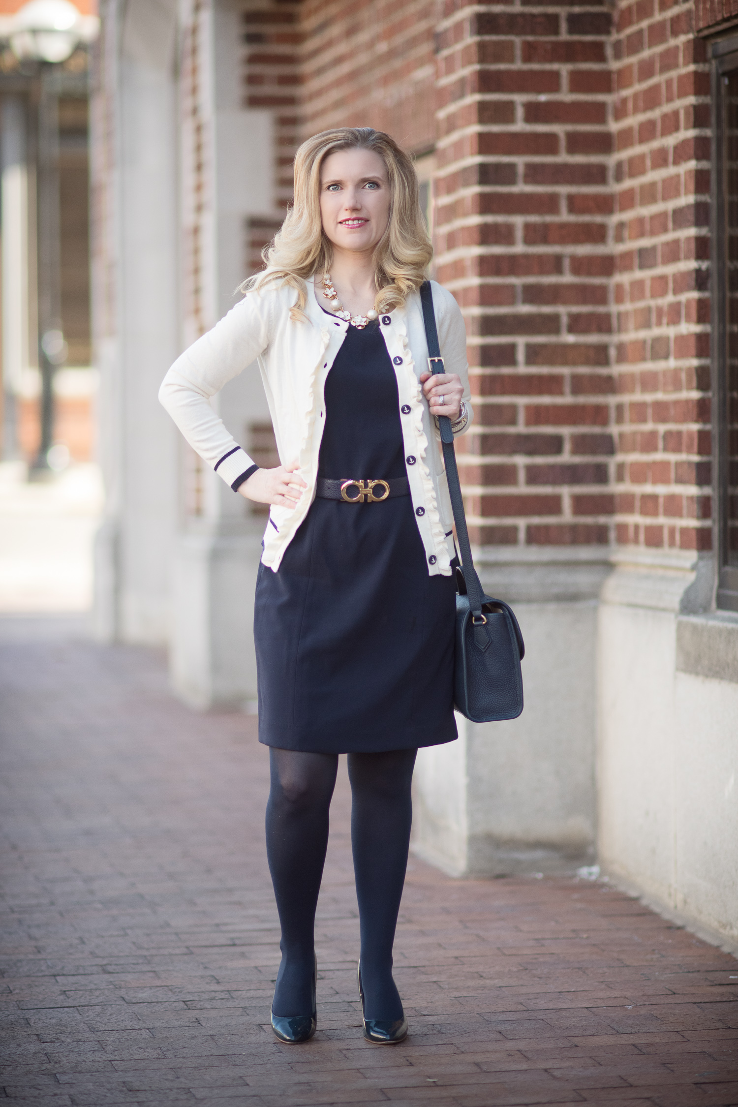 Petite Fashion And Style Blog Fashion For Petite Women Talbots Ruffle Front Cardigan