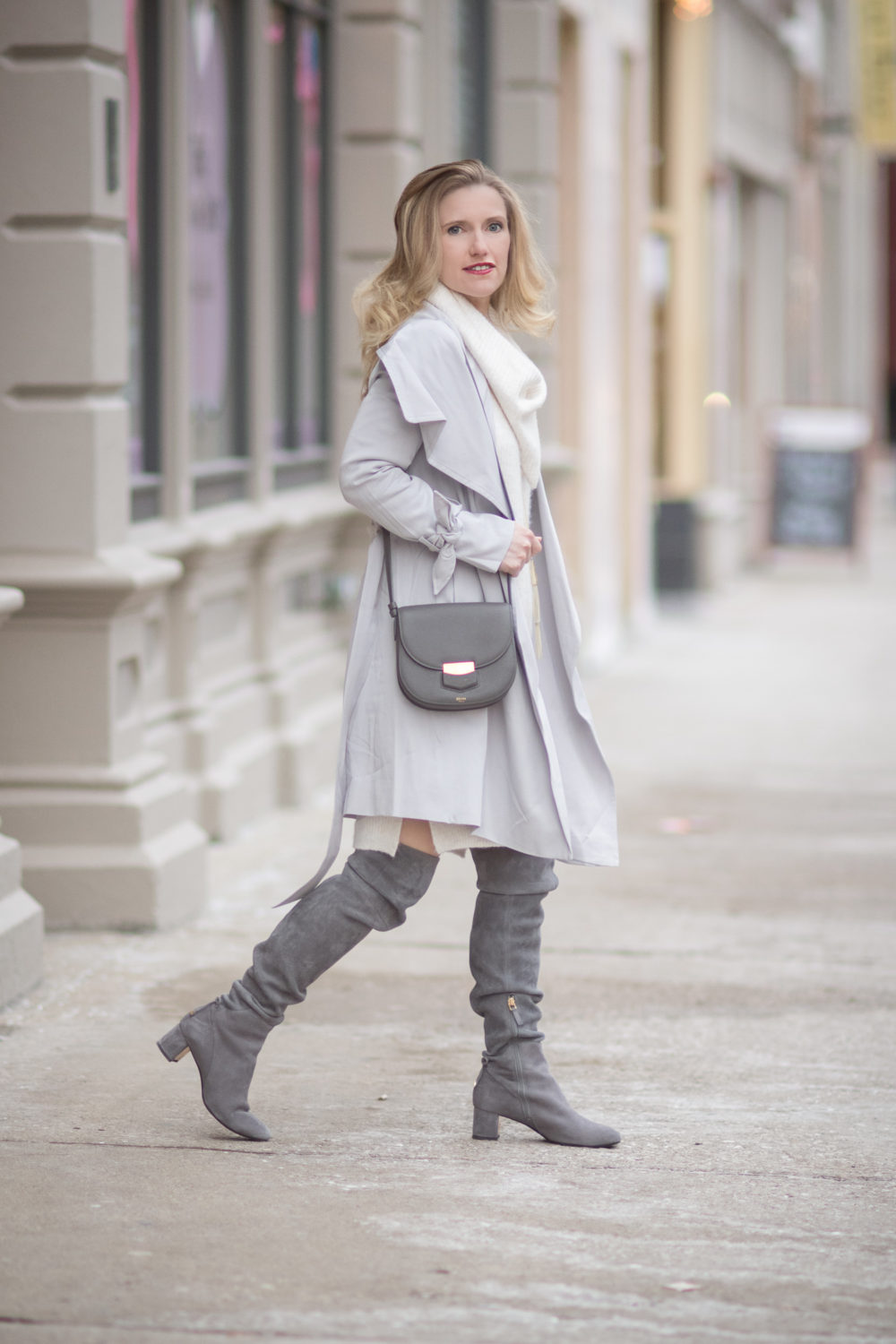 Petite Fashion and Style Blog | Fashion For Petite Women |Club Monaco Ellyn Trench | Miss Selfridge Cowl Neck Jumper | Tory Burch Laila OTK Boots | Lightweight spring jackets