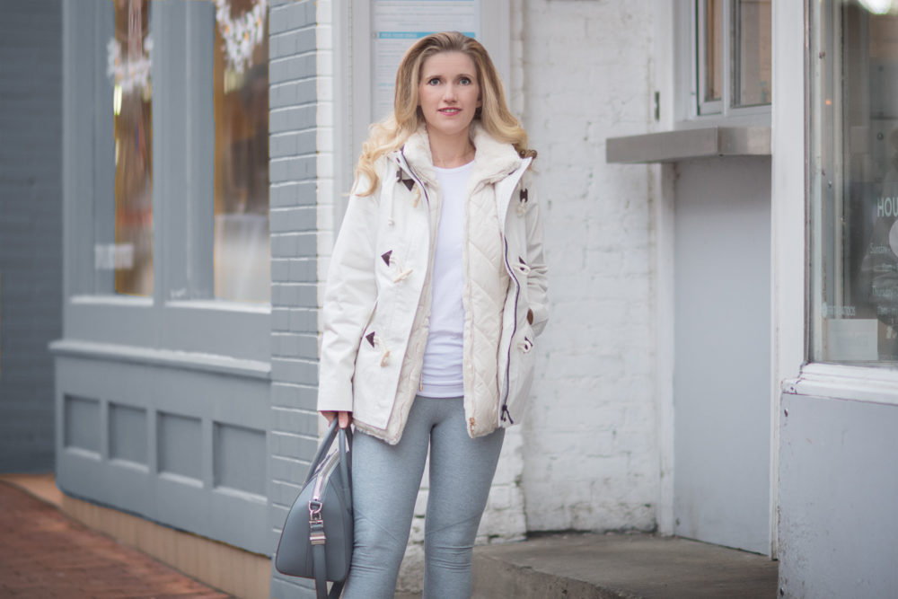 Petite Fashion and Style Blog | Fashion for Petite Women | Outdoor Voices 3-4 Warmup Legging | Boden Whitby Waterproof Jacket