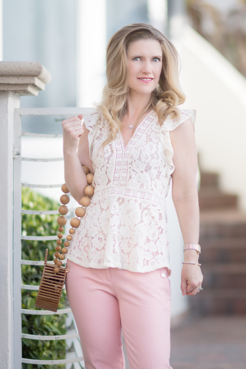 Petite Fashion and Style Blog | Hollywood Beach Travel Guide | Loft Lace Top
