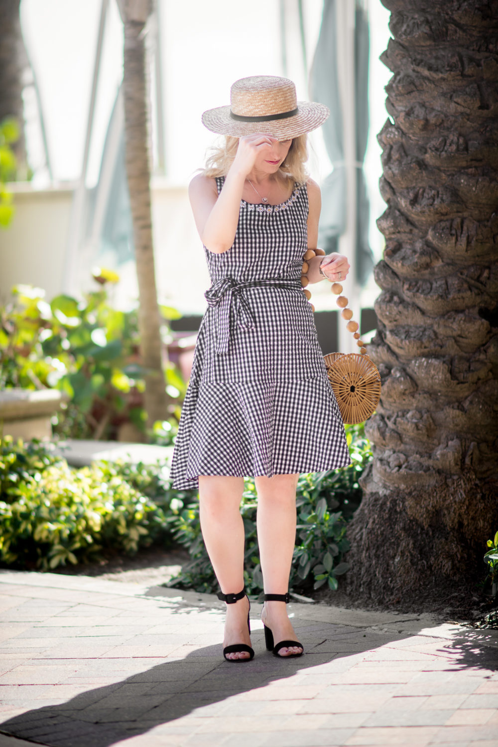 Petite Fashion and Style Blog | Hollywood Beach Travel Guide | Chadwicks of Boston Gingham Dress