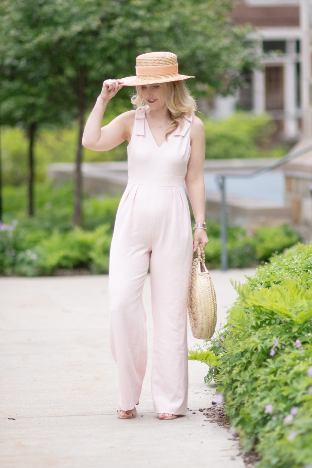 Petite Fashion and Style Blog | Chelsea 28 Bow Shoulder Jumpsuit | Petite Jumpsuits