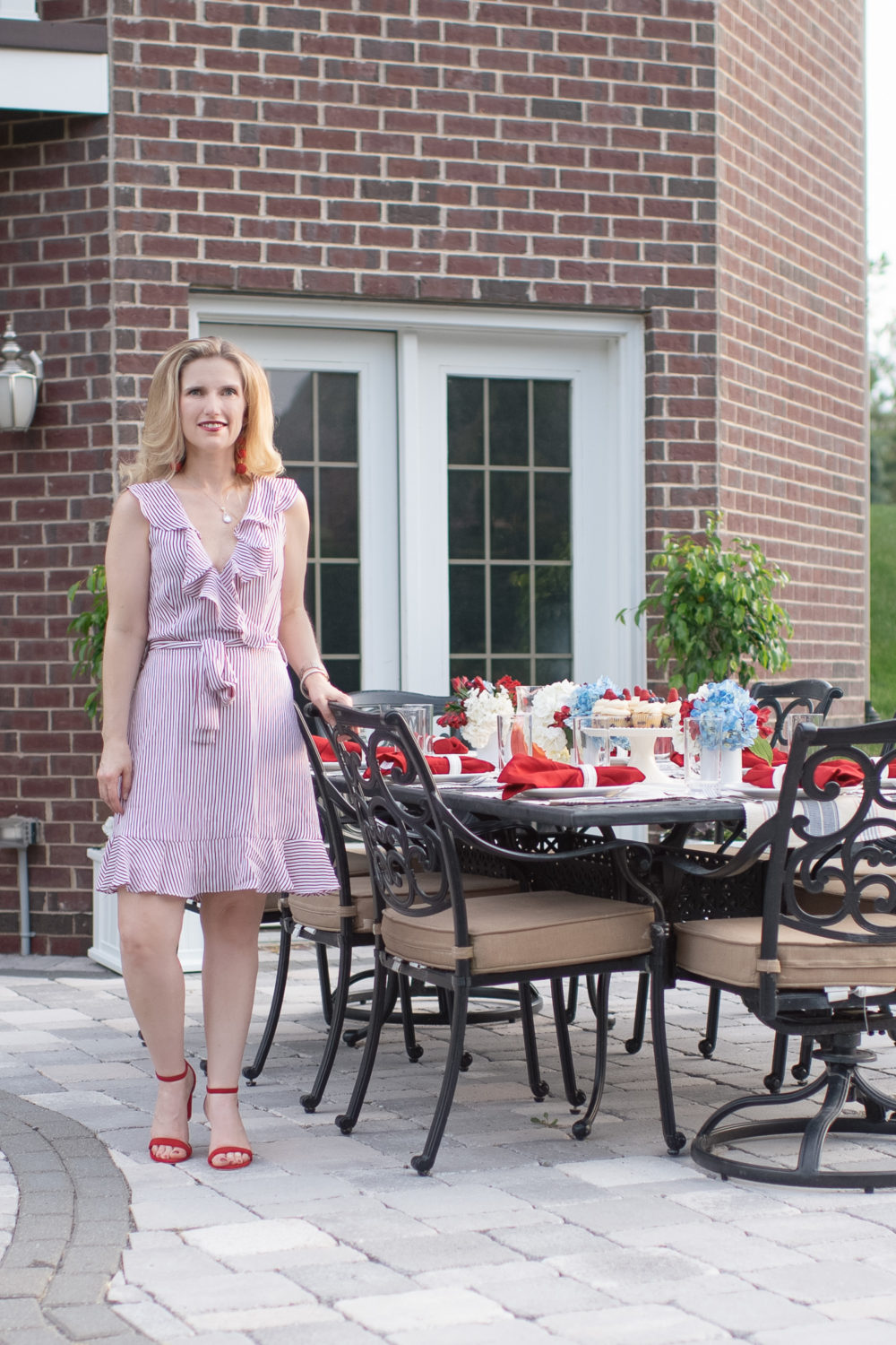 Michigan Petite Fashion and Lifestyle Blog | Fourth of July Tablescap