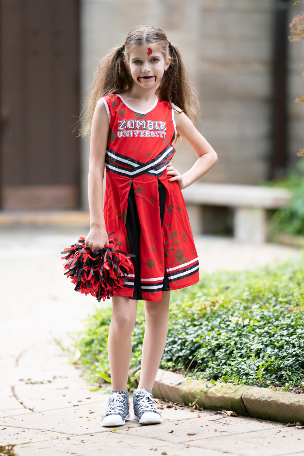 Zombie Cheerleader Halloween Costume For Girls.Halloween Ready With Chasing Fireflies The Blue Hydrangeas A