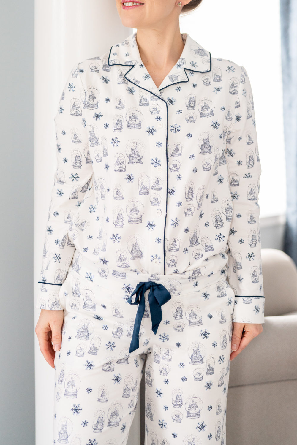 Cool Nights Scoopneck Long Sleeve Pajama Set Peace And Joy